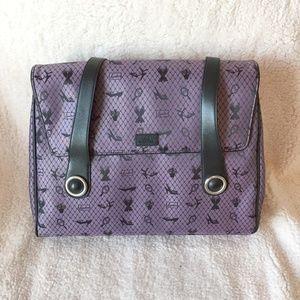 Lulu Guinness Purple Jacquard Laptop Bag NWOT